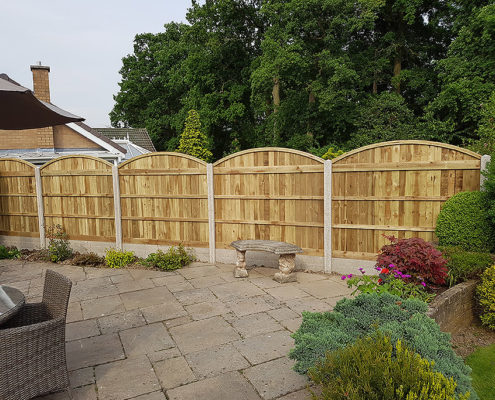 arch top concrete post and panel 02 tatton fencing