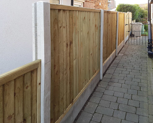 featherboard panels concrete post and panel 10 tatton fencing