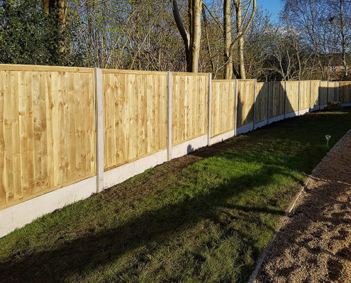 featherboard panels concrete post and panel 12 tatton fencing