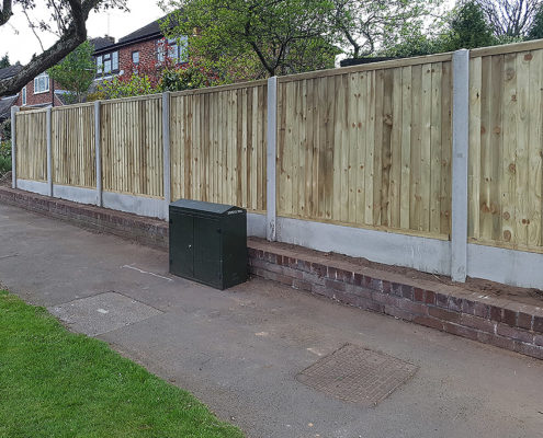 featherboard panels concrete post and panel 13 tatton fencing