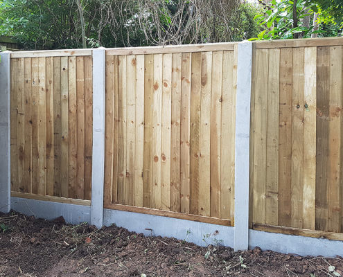 featherboard panels concrete post and panel 18 tatton fencing