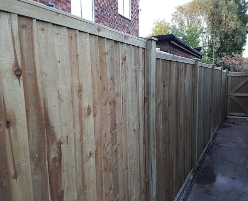 featherboard panels timber post 05 tatton fencing