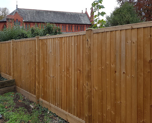 featherboard panels timber post 08 tatton fencing