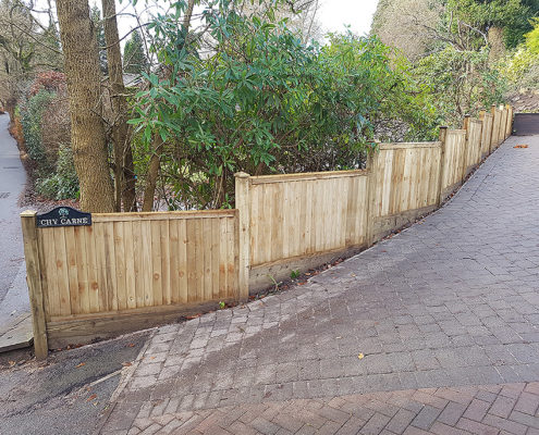 featherboard panels timber post 10 tatton fencing