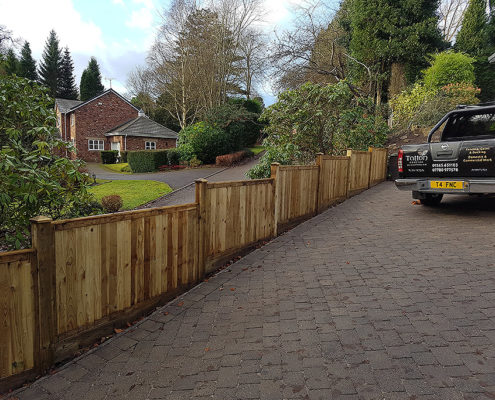 featherboard panels timber post 11 tatton fencing