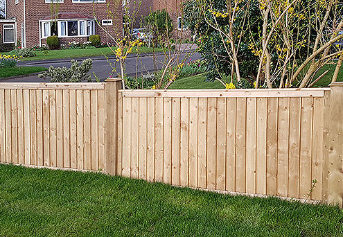 featherboard panels timber post 12 tatton fencing