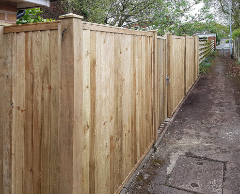 featherboard panels timber post 13 tatton fencing
