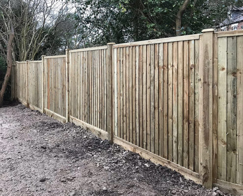 featherboard panels timber post 14 tatton fencing