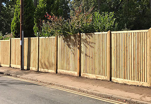 featherboard panels timber post 15 tatton fencing