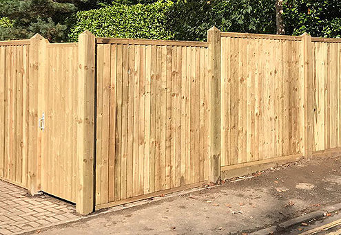 featherboard panels timber post 16 tatton fencing