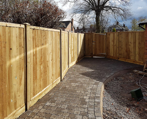 featherboard panels timber post 19 tatton fencing