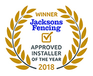 Jacksons Fencing Approved Installer of the Year 2018