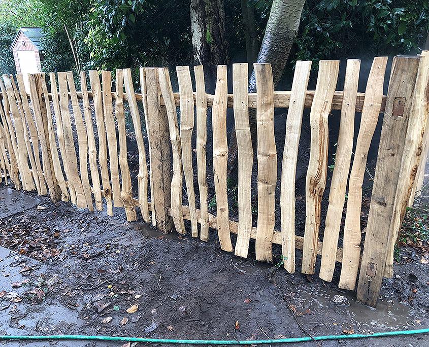 rustic oak pale fencing 06 tatton fencing