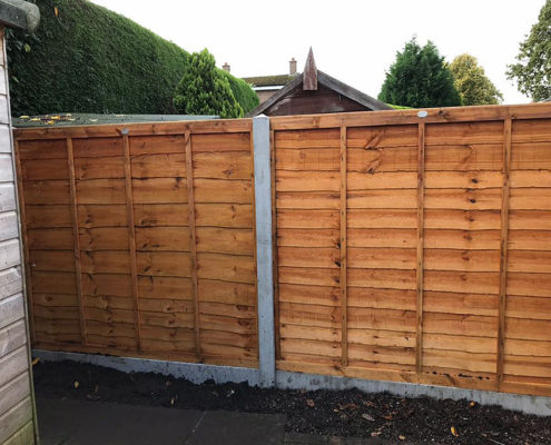standard waneylap panels concrete post and panel 01 tatton fencing