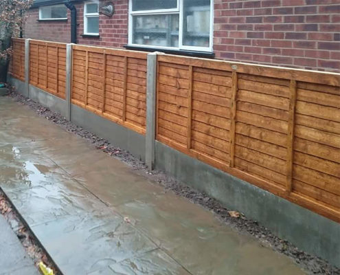 standard waneylap panels concrete post and panel 02 tatton fencing