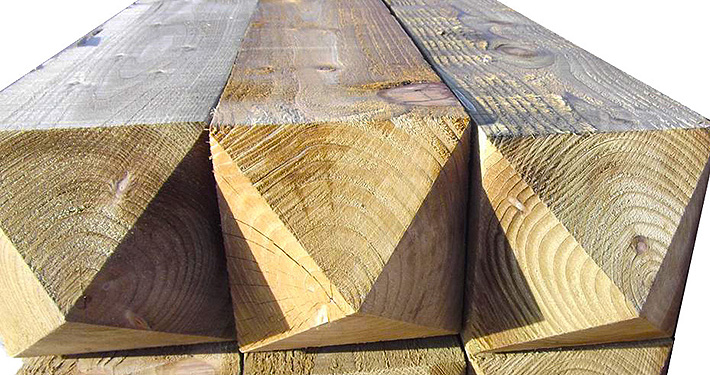 timber supply only: timber gate posts