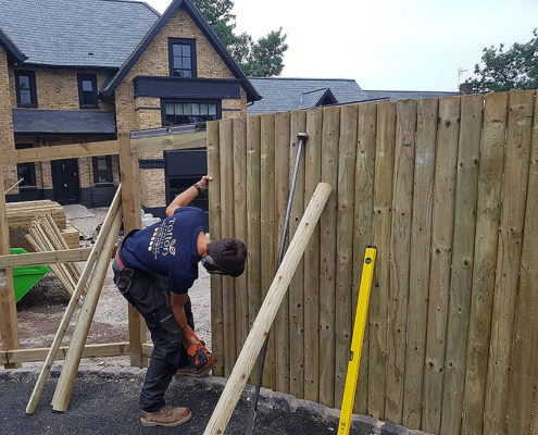 vertical half round cladding 02 tatton fencing